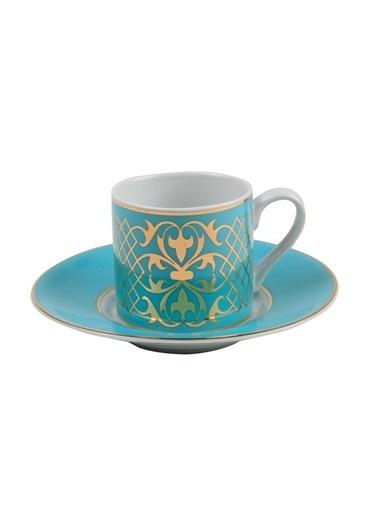 Kütahya Porselen Rüya 6827 Desen Kahve Fincan Takımı Renkli